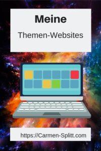 Symbolbild Laptop vor Sternenexplosion, Meine Themen-Websites